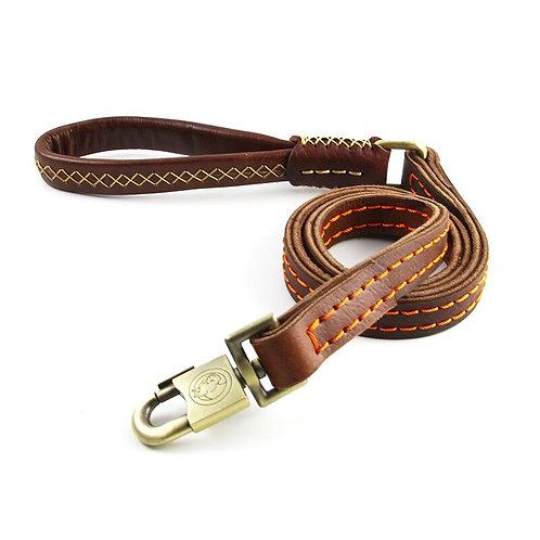 Classic calf leather dog leash