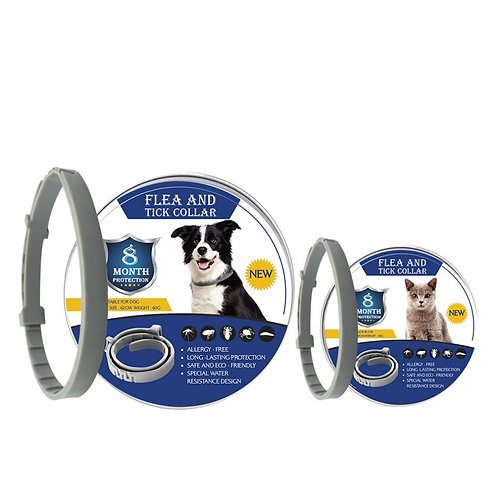 8 Month Flea Tick Collar for Dogs and Cats