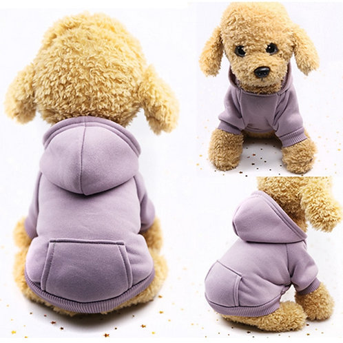 Warm Jersey Hoodie for Dogs or Cats
