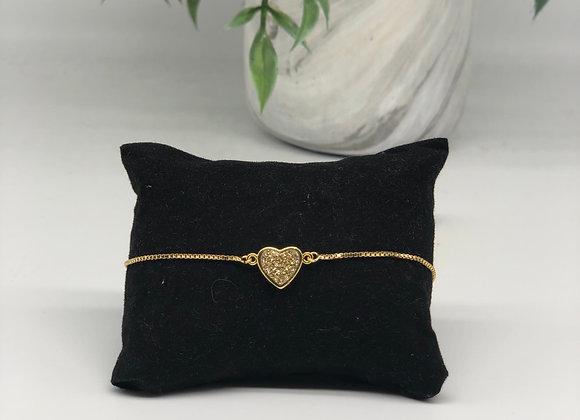 Heart Druzy Bracelets