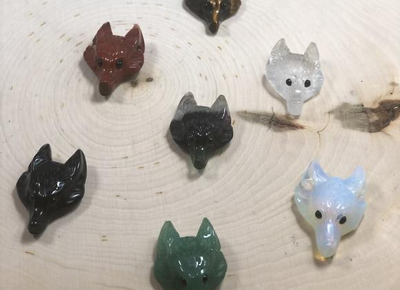 Fox Head Pocket Crystals
