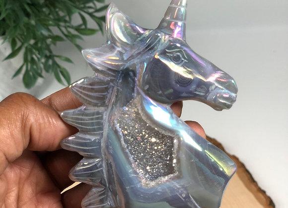 Titanium Aura Agate Unicorn
