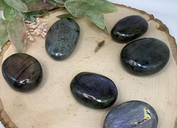 Labradorite palm stones