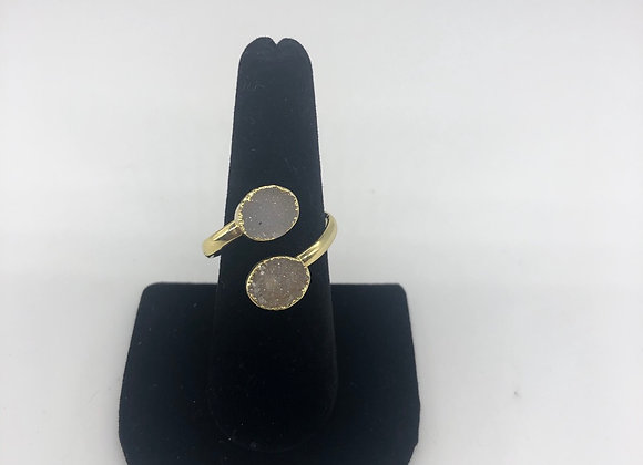 Adjustable Druzy Ring
