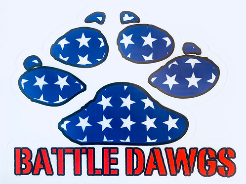 Battle Dawgs Sticker
