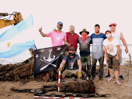 Las cadenas halladas en Vuelta de Obligado fueron parte de la batalla
