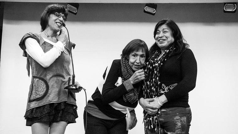 Compartiendo escenario con Marlene Wayar y Diana Sacayán.