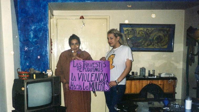 Junto a María Belén Correa (Gentileza Archivo de la Memoria Trans)