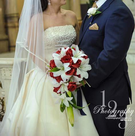 Classic Red and White Wedding