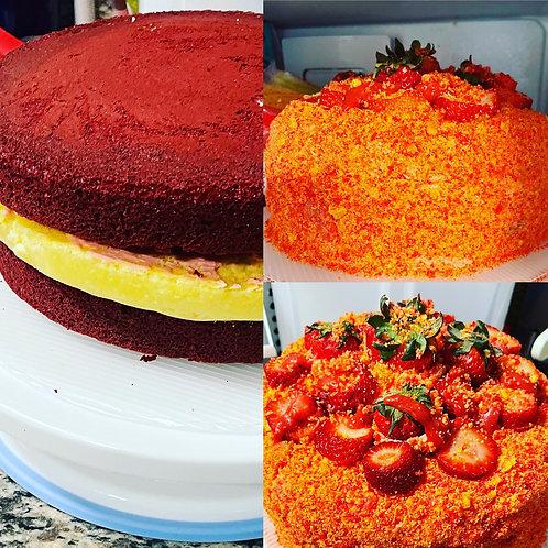 Strawberry shortcake cheesecake