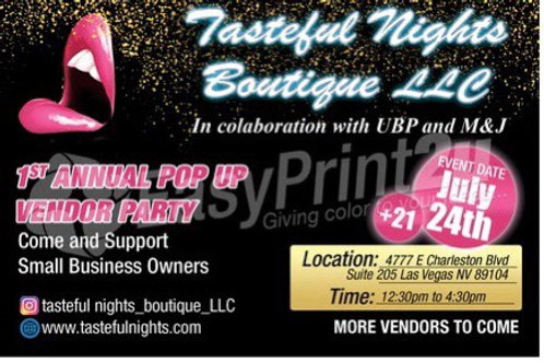TNB will be hosting their 1st pop vendor party .