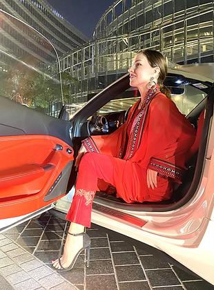 """Mini"" Ferrari Red Sadu Tunic"