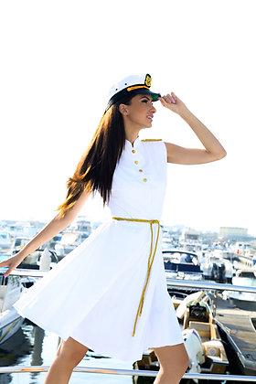 Captain Dress - White