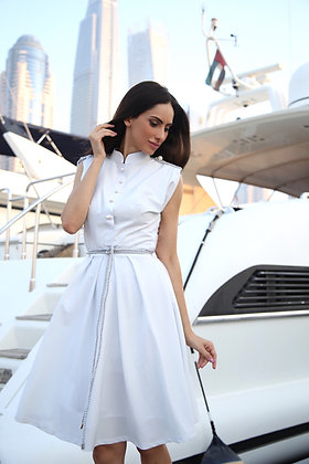 Captain Dress - Light Grey