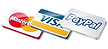 We accept all Visa, Mastercard, Paypal, cash or funds transferred via internet banking EFT. Sorry - we do not accept cheques! Credit cards carry a 2% charge.