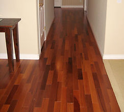 Wooden flooring installation