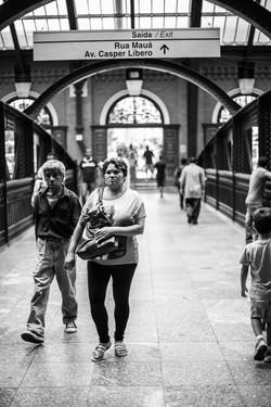 """Estação Luz -SP  """"Retratos Anônimo"""""""