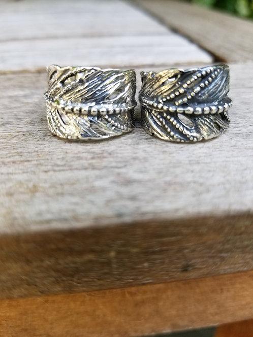 Sterling Leaf Ring