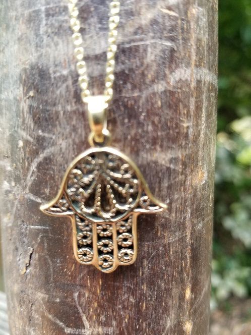 Hand of Fatimah Brass Pendant