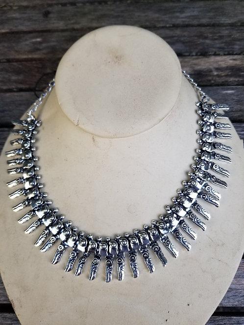 Silver Collar Necklace