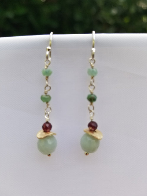 Sterling Silver and Gemstone Earring