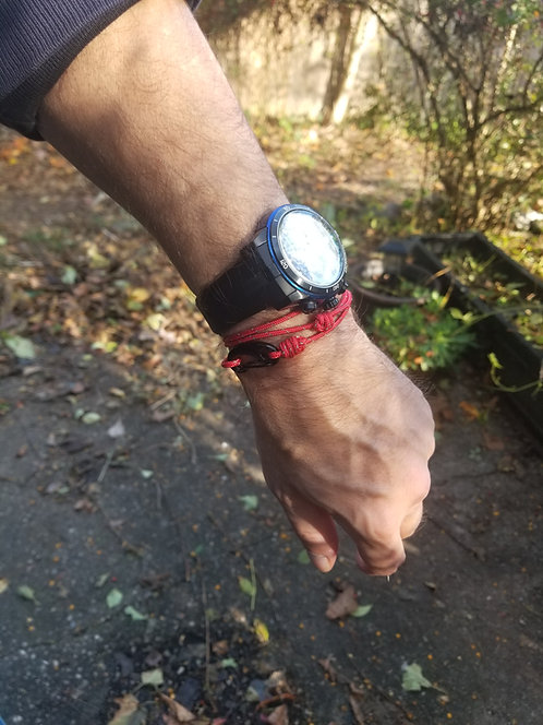 Red Cord Wrap Bracelet