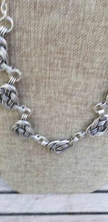 Braided Turkish Pewter Necklace