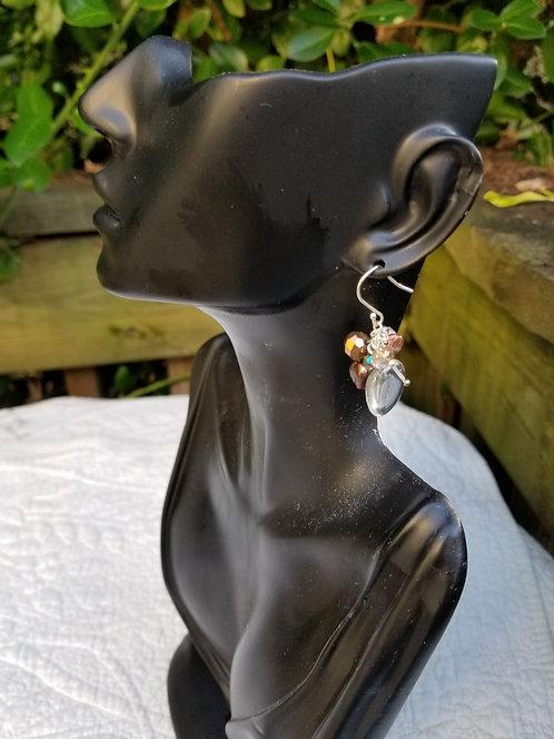 Cabochon Quartz Crystal Earring
