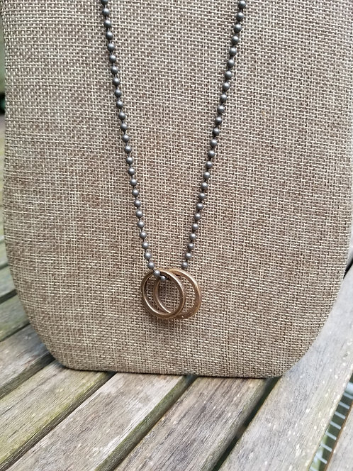Men's Two Rings Necklace