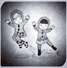 Eve & Glen Play In The Rain