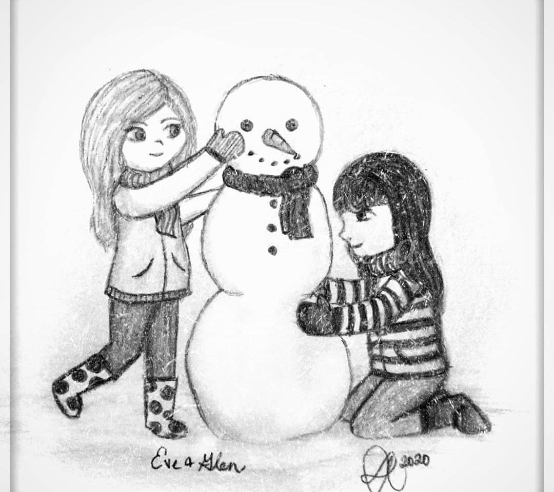 Eve & Glen Build A Snowman 2020
