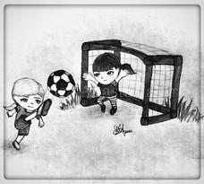 Eve & Glen Play Soccer