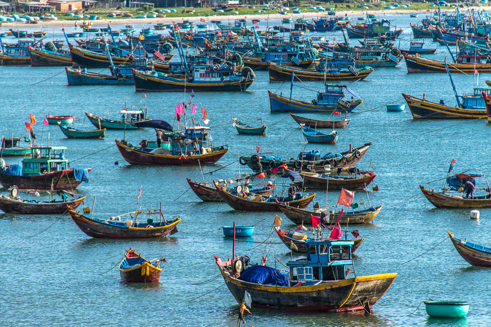 Botes en Vietnam.
