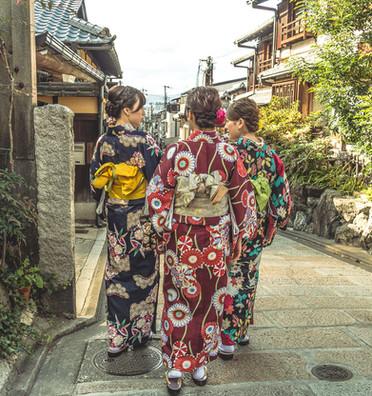 Girls in Kimono's