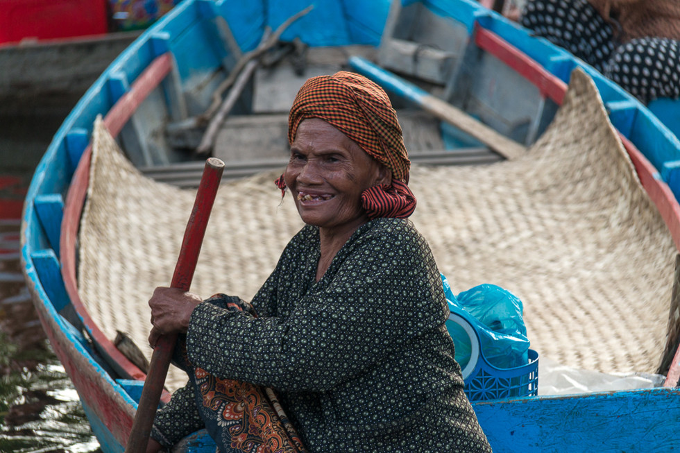 Woman waiting to transport tourists.