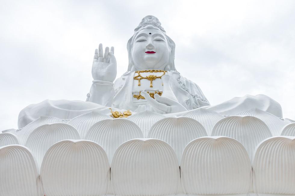 Giant Buddha at Wat Huai Pla Kung, Chiang Rai, Laos.
