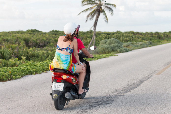 Motocycling in Cozumel, Quintana roo, Mexico.