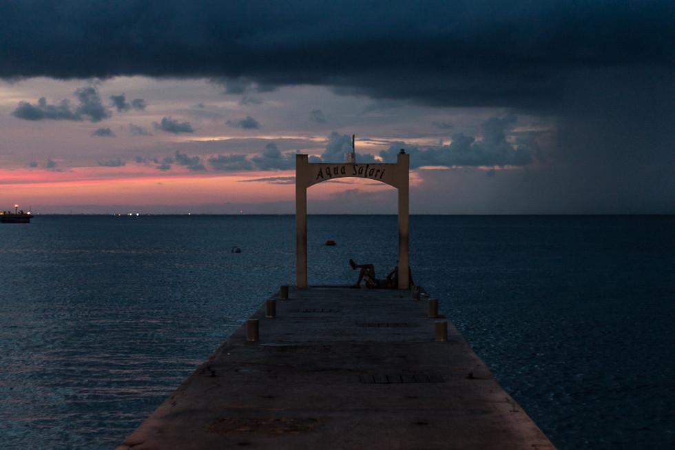 Atardecer en Cozumel, Quintana Roo, Mexico.