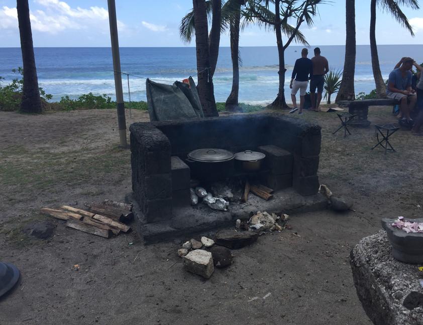 picnic dominical sur la plage