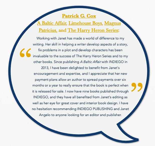 Patrick Cox testimonial