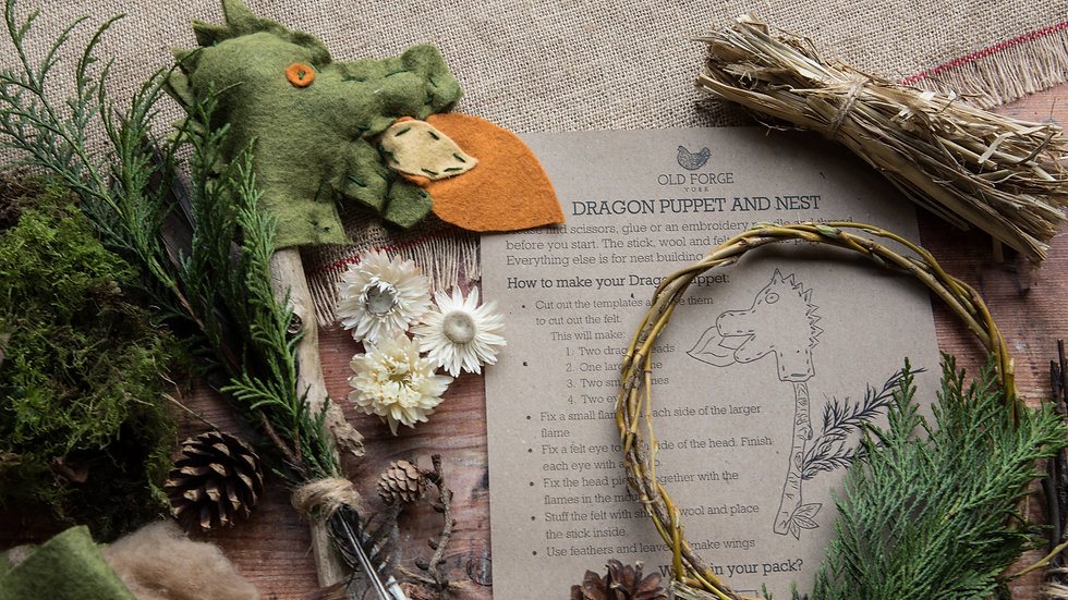 Dragon Puppet and Nest 3yrs+