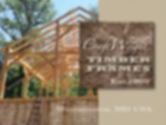 Timber framed barn under construction