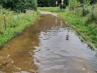 Vorsicht: Überschwemmungen an Gewässern