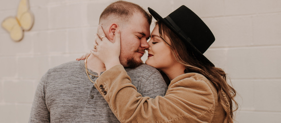 Courtney & Christian | Butterfly Wall | Gibsonville NC