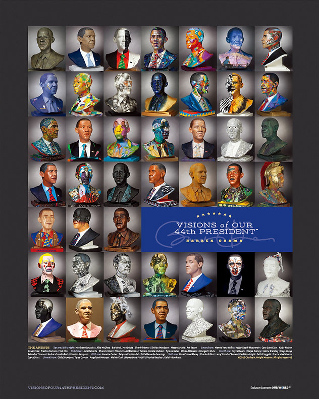Visions of Our 44th President Poster