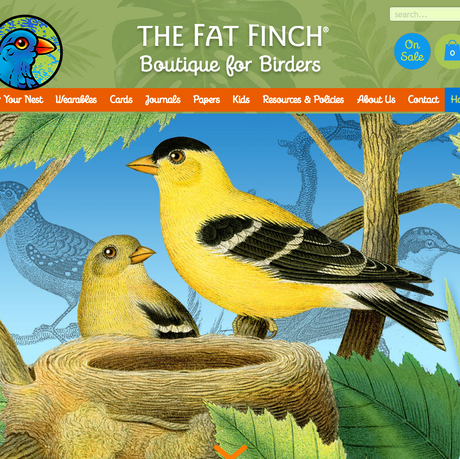 THE FAT FINCH BOUTIQUE FOR BIRD LOVERS