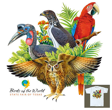 Birds of the World | State Fair of Texas T-shirt Design