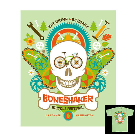 Boneshaker Bicycle Festival T-shirt Design