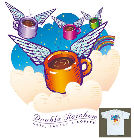Double Rainbow Restaurant T-shirt Design