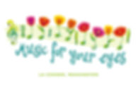Music for your Eyes Music Series Logo Design | La Conner, WA